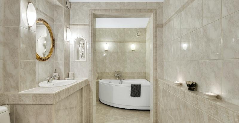 Flislagt bad/WC med varmekabler i gulv