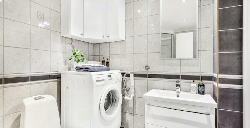 Opplegg for vaskemaskin.