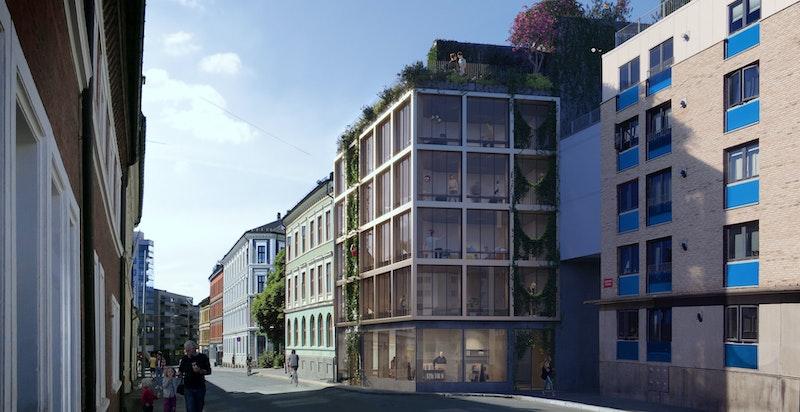 Moderne fasade og flott arkitektur. Kun ment som illustrasjon