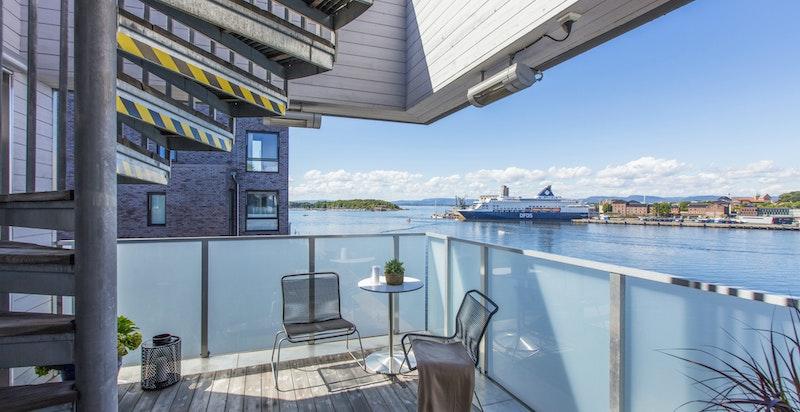 Leiligheten har totalt 3 balkonger / terrasser.