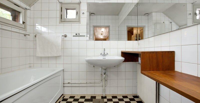 Baderom med badekar i 2. etasje