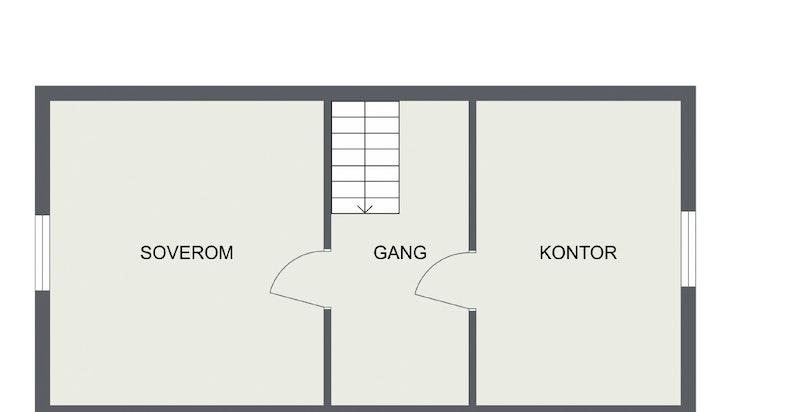 Portnerbolig. Planskisse loft.