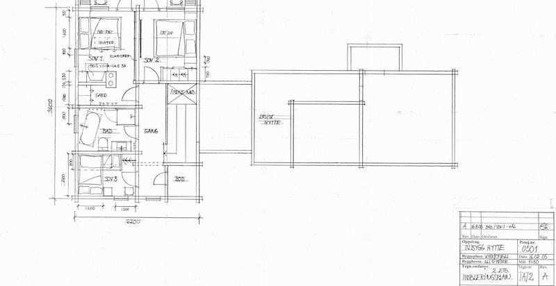 Planskisse hovedhytta 2. etasje