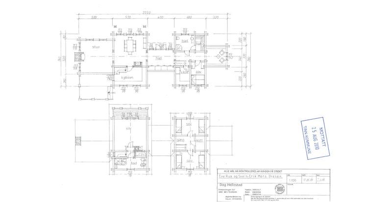 Plantegning 1. og 2. etasje