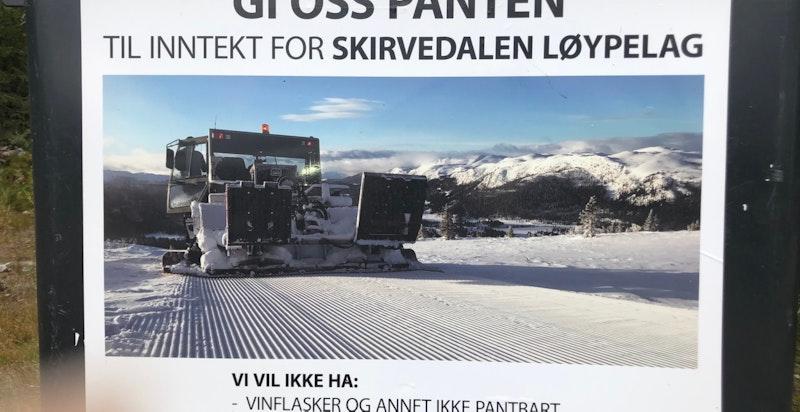 Preppemaskin og mulighet for å støtte Skirvedalen løypelag
