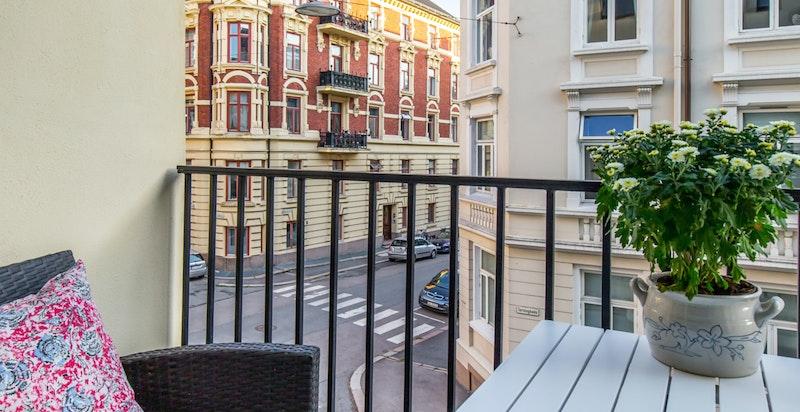 Balkong utenfor stuen