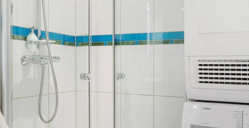 Opplegg for vask/tørk på dusjbadet