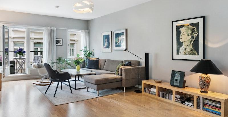 Lys og hyggelig stue