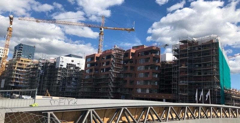 Byggeplassen medio august 2018.
