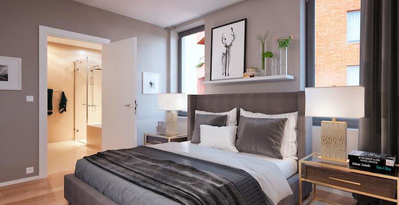 Illustrasjonsbilde fra en annen leilighet i prosjektet: Munch Brygge