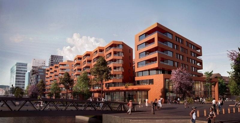 Velkommen til Munch Brygge! Dette er en strålende leilighet under oppføring i 3. etasje. Balkong på 13 kvm og heisadkomst. (Illustrasjonsfoto)