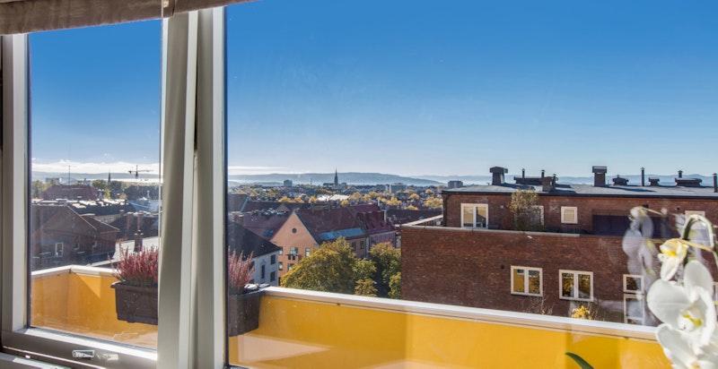 Utsikt fra hovedsoverom - ingen innsyn fra naboer.