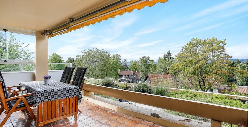Vestvendt terrasse