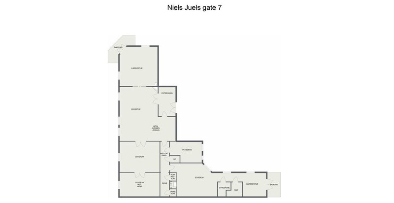 Plantegning Niels Juels gate 7