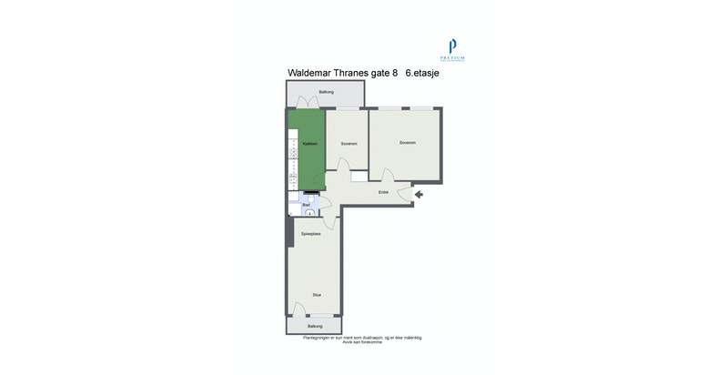Plantegning - Waldemar Thranes gate 8