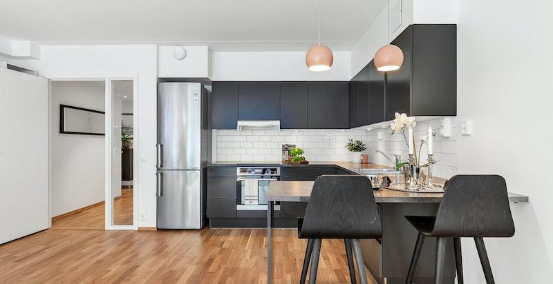 Kjøkken med barløsning