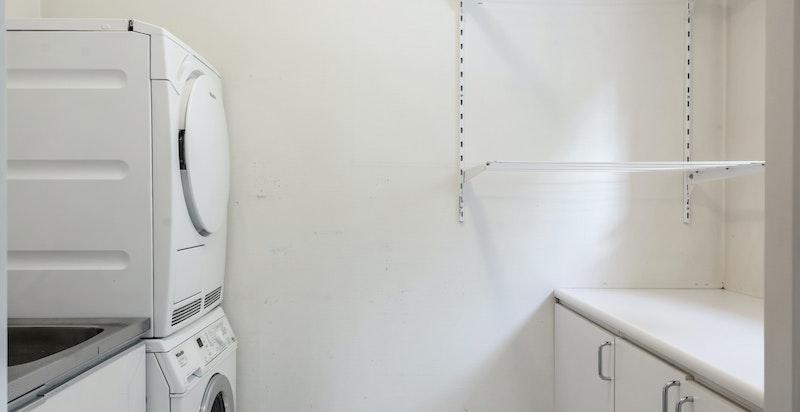 aktisk vaskerom med direkte adkomst fra entre