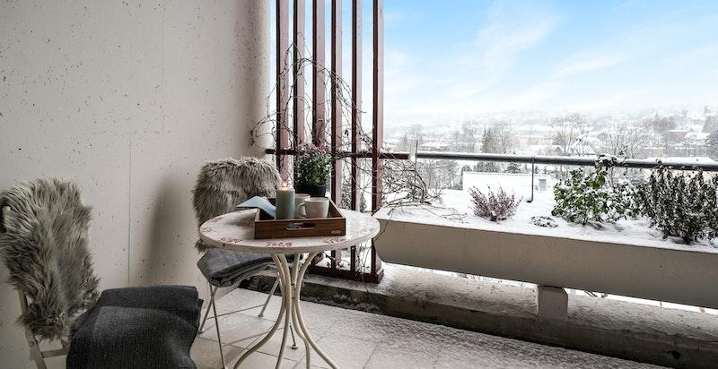 Detaljbilde fra terrassen
