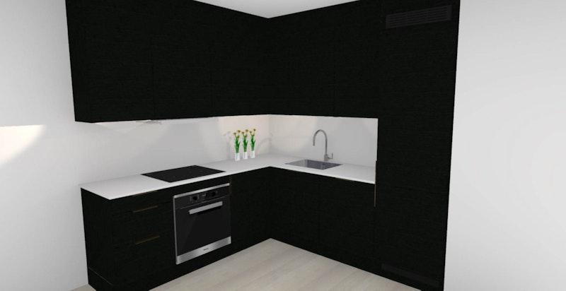 Kjøkkentegning fra HTH.