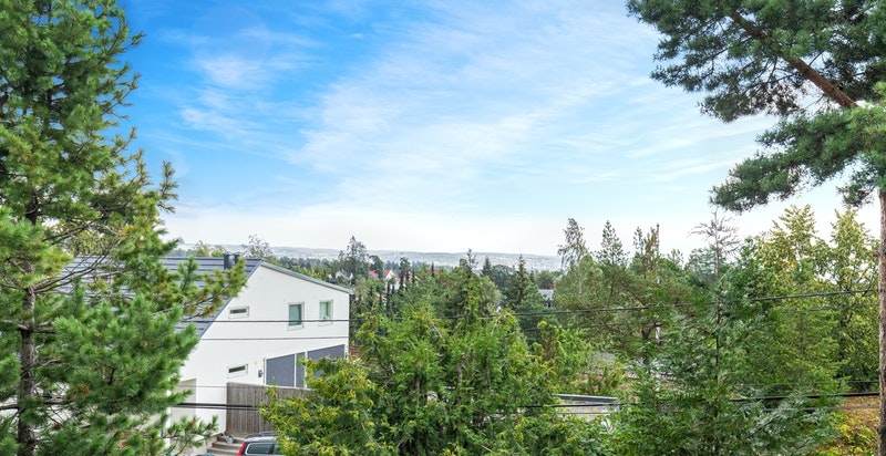 Fin utsikt mot fjorden