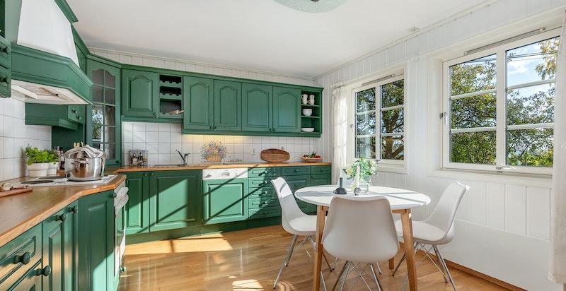 Kjøkken med spiseplass