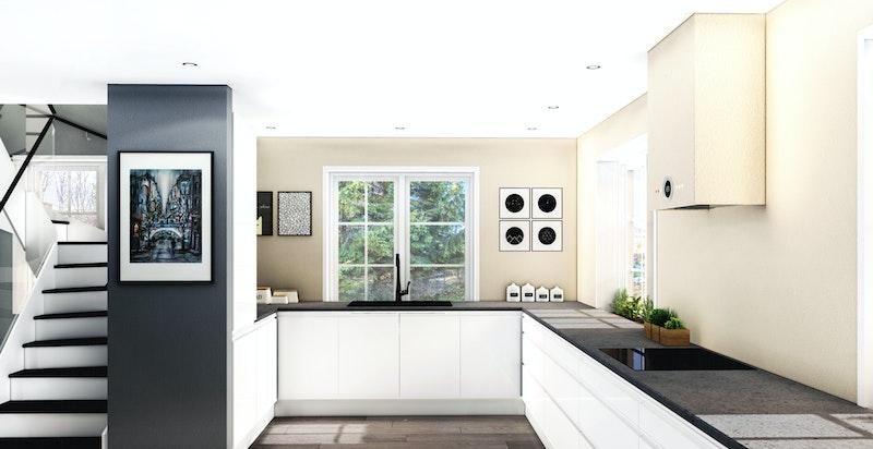 Kjøkkeninnredning - Kun illustrasjon
