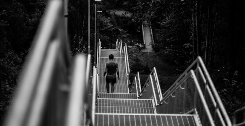Ny trapp like ved med nesten 300 trinn - populært for trening til trappeløp