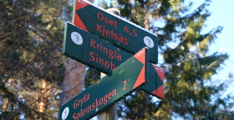 Området byr på flotte turveier, enten til fots, på ski eller på sykkel