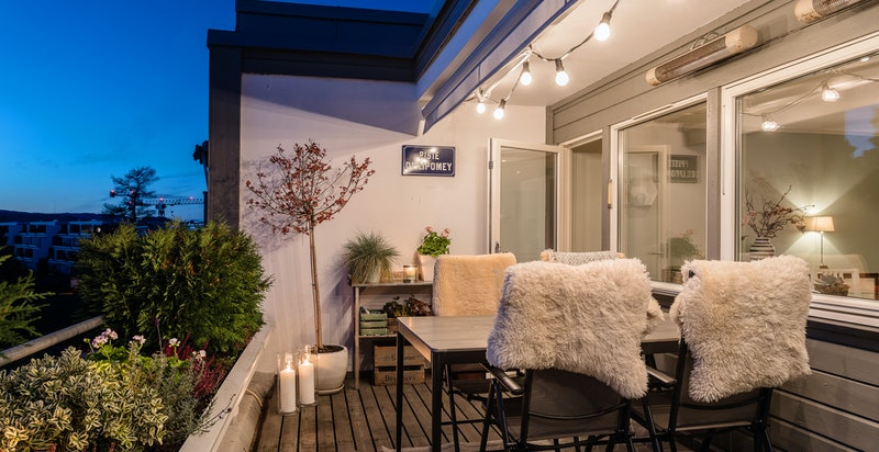 Terrasse med nytt gulv fra 2013