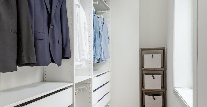 Walk-in garderobe.