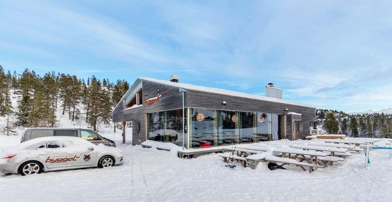 Bygget Bistro og afterski i Gaustatoppen Naturpark