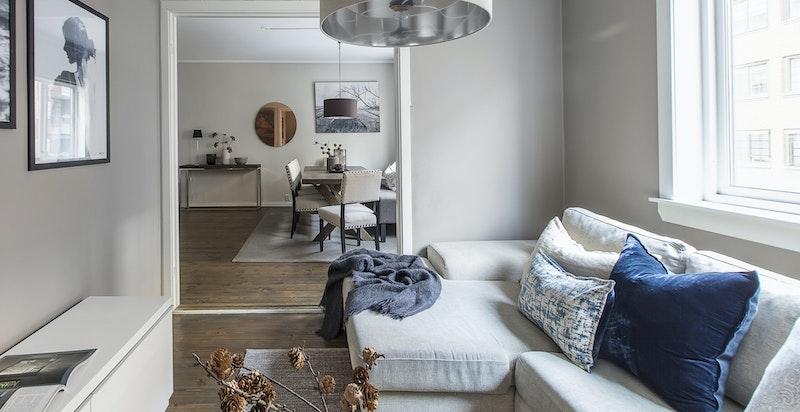 TV-stue som enkelt kan gjøres om til soverom