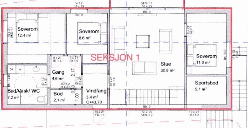Planløsning hovedplan (2.etasje)