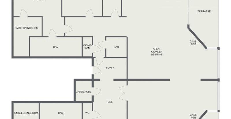 Floorplan letterhead - Dyna brygge 5 - 1. Etasje - 2D Floor Plan-1