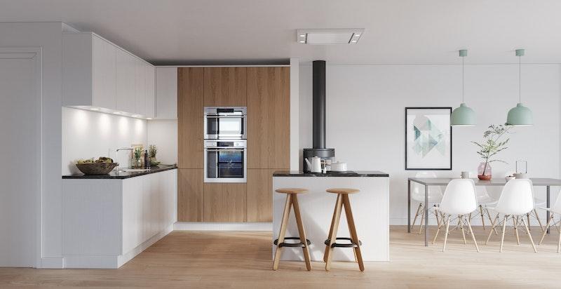 Prospekt 3D, Kjøkken - NB! Bildet er kun ment som illustrasjon og avvik kan forekomme
