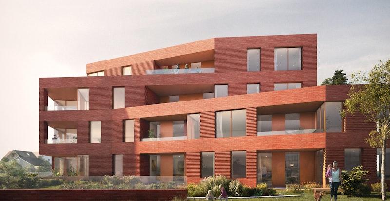 Moderne fasade og flott arkitektur. Kun ment som illustrasjon.