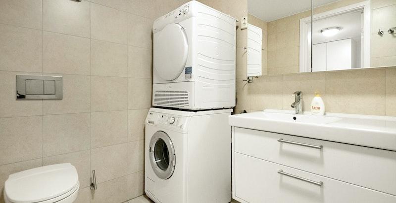 Medfølgende vaskemaskin og tørketrommel