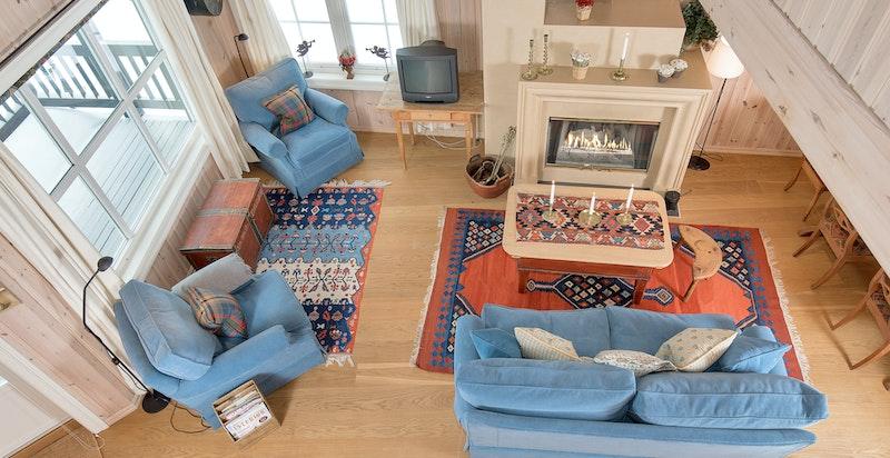 Luftig og lys stue