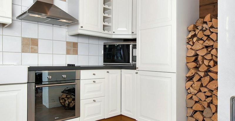 Kjøkkenet er i likhet med hytta svært lite brukt.