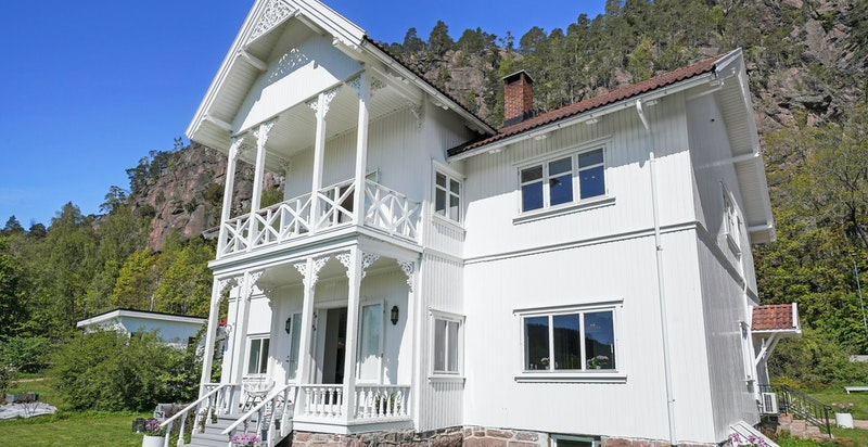 Huset er blitt utvendig malt i 2018