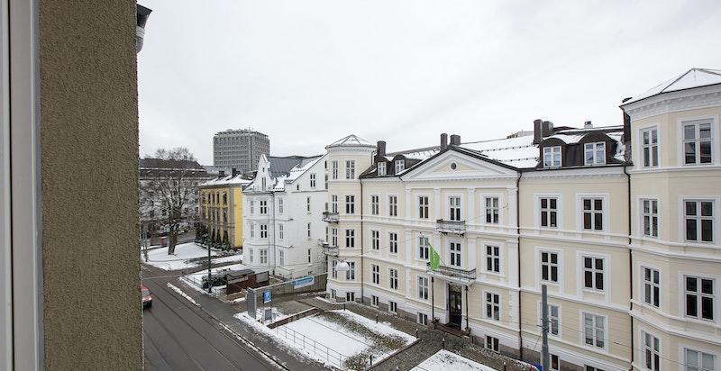 Utsikt fra leiligheten.