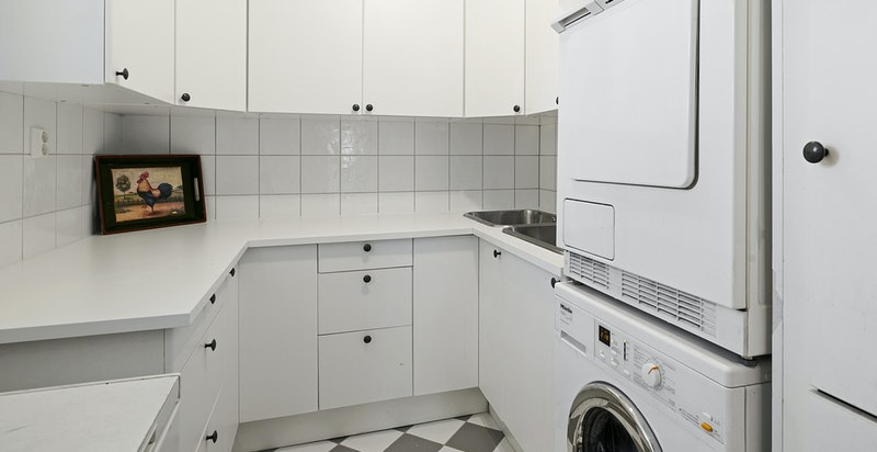 Praktisk med vaskerom ved hall