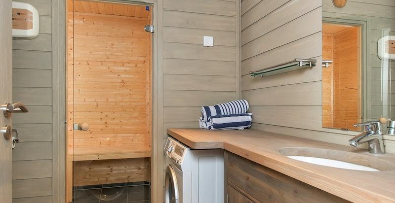 Bad og badstue. Opplegg for vaskemaskin