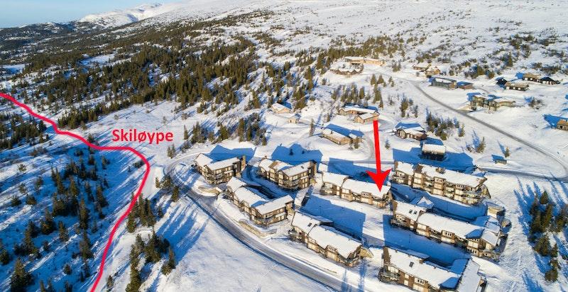 En særdeles lekker leilighet rett ved skiløyper og alpinanlegget