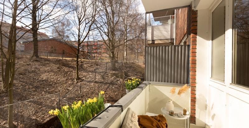 Solrik vestvendt balkong