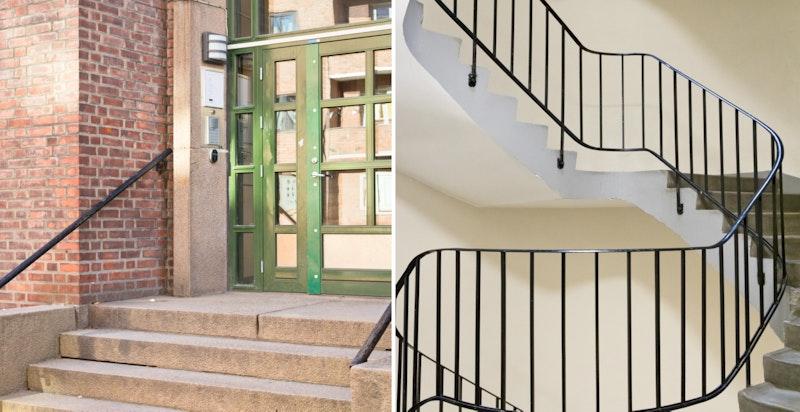 Inngangspartiet og den stilige trappen