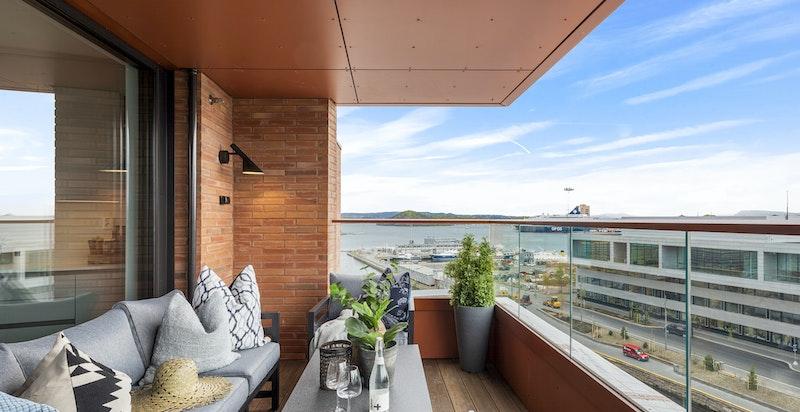 Vestvendt balkong på 11 kvm.