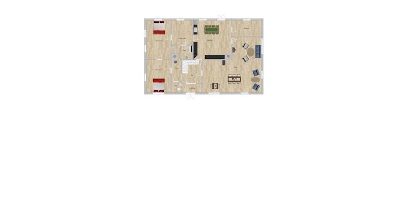 Plantegning - 1. etasje (hovedhus)