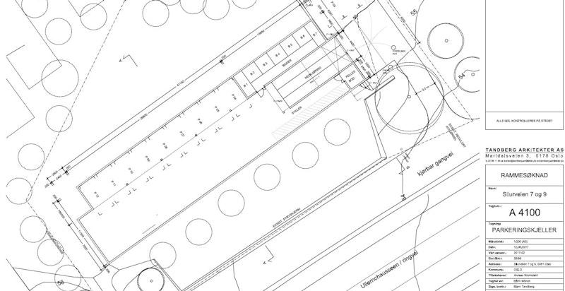 Parkeringsplan fra tillatelse til endring, rammetillatelse.