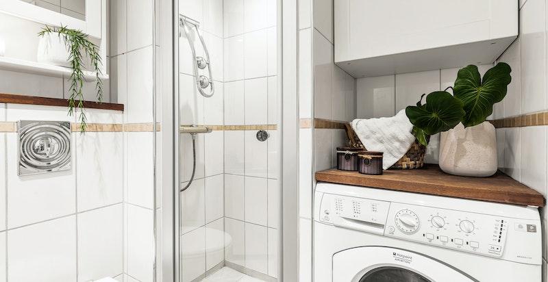 Opplegg til vaskemaskin på bad